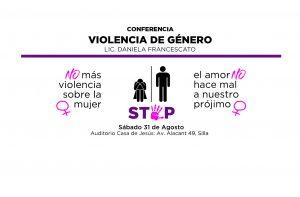 Anuncio conferencia Violencia de Género